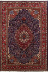 Geometric Medallion 12x16 Tabriz Persian Area Rug