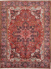 Geometric Medallion 9x12 Heriz Persian Area Rug