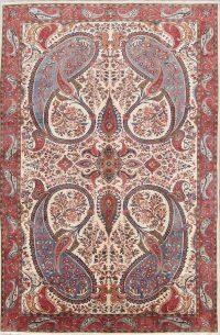 Floral Ivory 9x14 Sarouk Persian Area Rug
