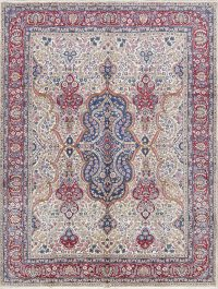 Floral Medallion 10x12 Kerman Persian Area Rug