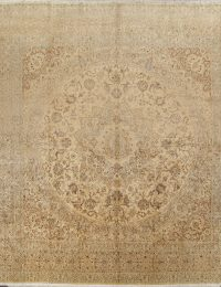 Floral Medium 16x16 Nain Toodeshk Persian Area Rug