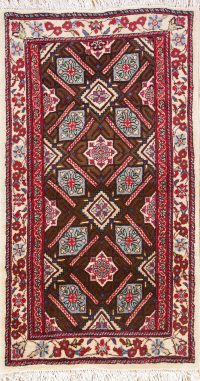 Geometric All-Over Foyer Size 2x4 Kashmar Persian Area Rug