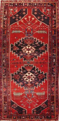 Geometric Tribal 5x10 Bakhtiari Persian Rug Runner