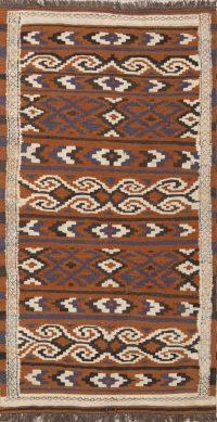 Geometric 3x6 Kilim Balouch Persian Rug Runner