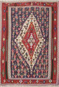 Geometric 4x6 Senneh Kilim Persian Area Rug
