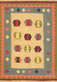 Geometric 3x5 Kilim Shiraz Persian Area Rug