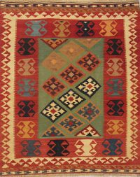 Geometric 5x6 Kilim Shiraz Persian Area Rug