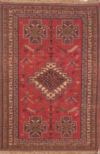 Pictorial Geometric 4x6 Sumak Kilim Persian Area Rug