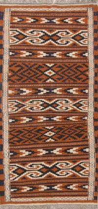 Geometric 3x6 Kilim Sumak Persian Rug Runner