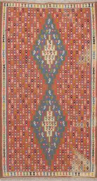 Geometric 4x7 Kilim Senneh Persian Area Rug