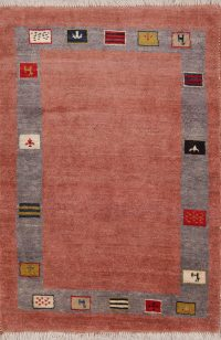 Bordered 3x5 Gabbeh Shiraz Persian Area Rug