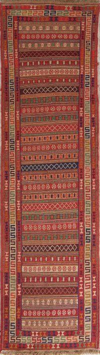 Geometric 3x10 Kilim Sumak Persian Rug Runner