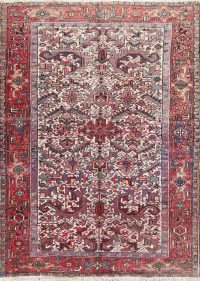 All-Over Geometric 7x9 Heriz Persian Area Rug
