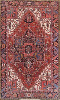 Geometric 8x11 Heriz Persian Area Rug