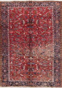 All Over Geometric 8x11 Heriz Persian Area Rug