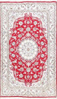 Floral 5x8 Nain Persian Area Rug