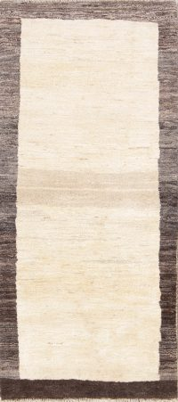 Thick Pile Contemporary 3x6 Gabbeh Shiraz Modern Persian Rug Runner