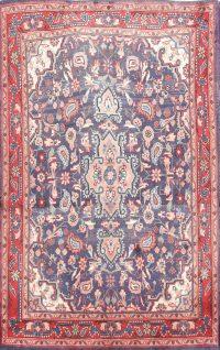 Floral 3x5 Sarouk Persian Area Rug