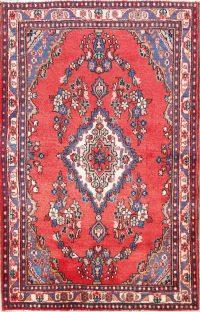 Floral Medallion 4x7 Hamedan Persian Area Rug