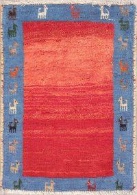 Little Animals Tribal 2x3 Gabbeh Shiraz Persian Area Rug
