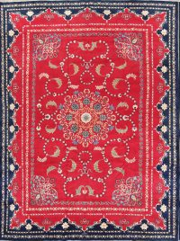 Masterpiece Vegetable Dye 11x14 Kashan Persian Area Rug