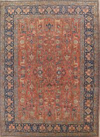 All-Over 11x15 Tabriz Ghazan Khan Persian Area Rug