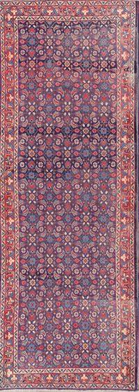 Floral Blue 3x9 Sarouk Persian Rug Runner