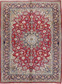 Floral Medallion 9x12 Kashan Persian Area Rug