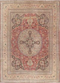 Floral Medallion 10x13 Kerman Ravar Lavar Persian Area Rug