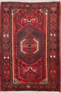 Geometric Tribal Foyer Size 3x5 Hamedan Persian Area Rug