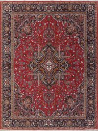 Soft Plush Floral 10x13 Heriz Persian Area Rug