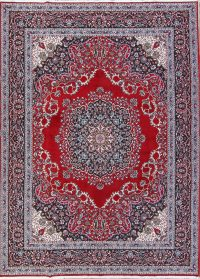 Soft Plush Geometric 10x13 Mashad Persian Area Rug