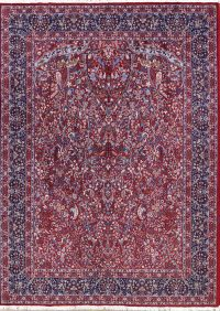 Soft Plush Floral All-Over 10x13 Tabriz Persian Area Rug