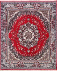 Soft Plush Medallion 10x13 Mashad Persian Area Rug