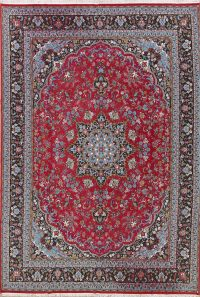 Soft Plush Floral 10x13 Mashad Persian Area Rug