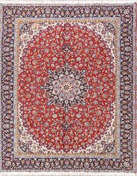 Soft Plush Floral 9x12 Kashan Persian Area Rug