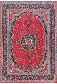 Soft Plush Floral 10x13 Mashad Persian Area Rug