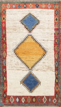 Tribal Geometric 4x7 Gabbeh Kashkoli Shiraz Persian Area Rug