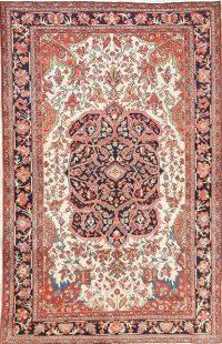 Floral 4x7 Sarouk Farahan Persian Area Rug