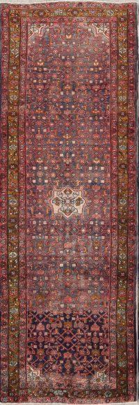 Hamedan Persian Runner Rug 4x11