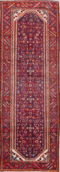 All-Over Floral 4x10 Hamedan Persian Rug Runner