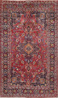 Traditional Mashad Persian Area Rug 6x10