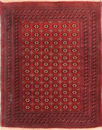 4x5 Turkoman Persian Area Rug