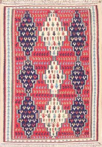 3x5 Kilim Bidjar Senneh Persian Area Rug