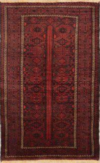 Geometric 4x6 Balouch Persian Tribal Area Rug