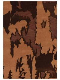 Hand Tufted Wool Area Rug Contemporary Camel