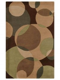 Hand Tufted Wool Area Rug Contemporary Multicolor