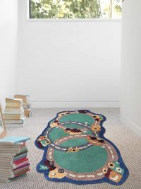 Hand Tufted Woolen Random Rug Kids Green