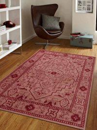 Hand Tufted Wool Area Rug Oriental Light Brown