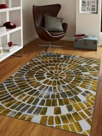 Hand Tufted Wool Area Rug Geometric Multi